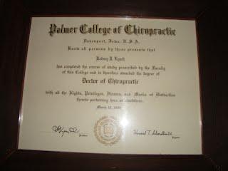 Diploma from Palmer